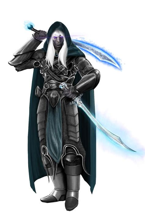 drizzt 016 hunters blades swords dark elf and twin on