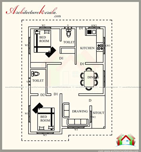 700 square foot house plans 700 square feet kerala style house plan architecture kerala