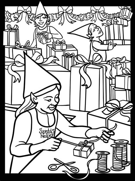 coloring pages of santa s workshop welcome to dover publications