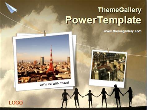 사람 그림자 Ppt 템플릿 하늘배경과 사진앨범 560tgp Powerpoint 2010 Photo Album Template