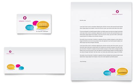 therapy business card templates free speech therapy education business card letterhead