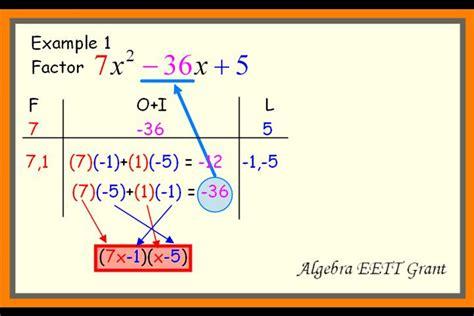 calculator factor factoring trinomials calculator