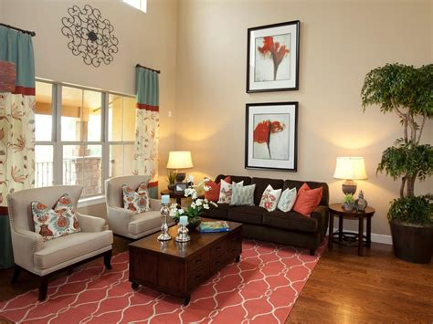 Coral Color Living Room by Photos Hgtv