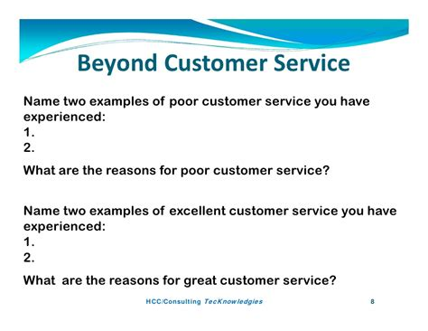 exle of customer service beyond customer service by paul kostreski