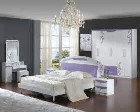 bedroom purple colour schemes modern design: modern white and soft purple bedroom interior design