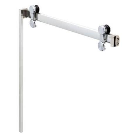 Sliding Shower Door Track Delta 48 In To 60 In Contemporary Sliding Shower Door Track Assembly Kit In Chrome Step 2