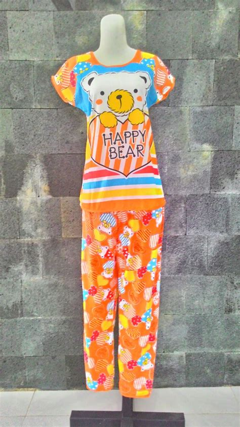 Baju Tidur Korea Piyama Korea Celana Panjang Lengan Pendek grosir baju tidur murah 24ribu