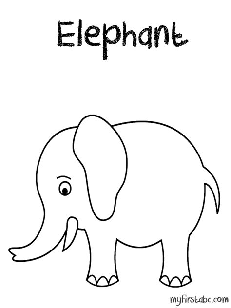elephant trunk up coloring pages