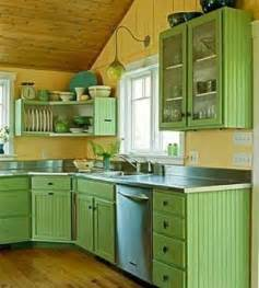 Blue Green Kitchen Cabinets Small Kitchen Designs In Yellow And Green Colors Accentuated With Or Light Blue