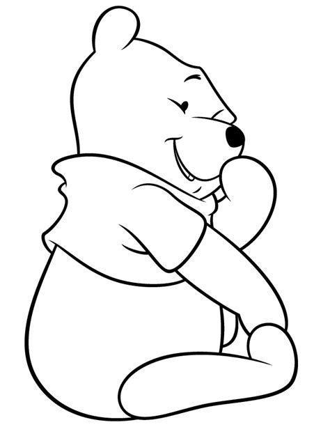 pooh bear colouring pages