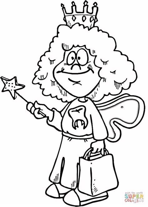 coloring page of tooth fairy tooth fairy coloring page supercoloring com t s pix