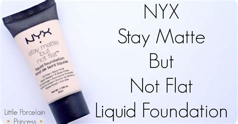 Nyx Stay Matte But Not Flat Liquid Foundation Smf porcelain princess review nyx stay matte but not flat liquid foundation ivory
