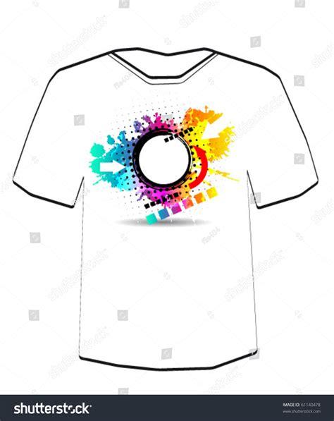 editable t shirt template web banner t shirt design template editable stock vector