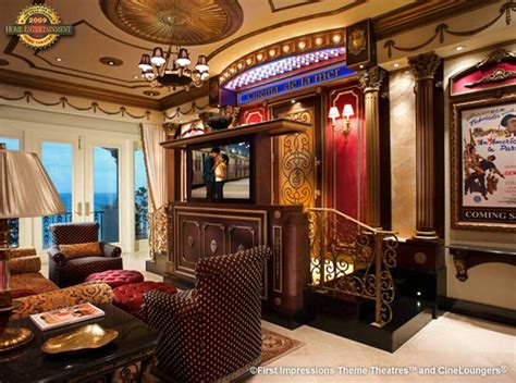 award winning masterpiece home theater lobby