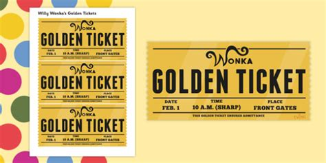 role play golden tickets to support teaching on willy wonka s