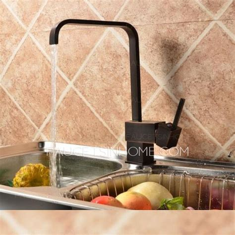 Oiled Bronze Kitchen Faucet waterfall quality oil rubbed bronze black kitchen faucet