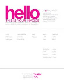 Invoice Template For Designers by Invoice Like A Pro Exles And Best Practices Smashing