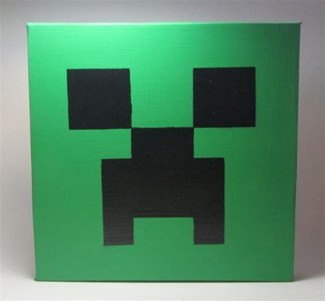 Painting Minecraft by Painted Canvas Painting Creeper Inspired