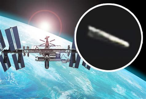 iss feed cigar shaped ufo on international space station s