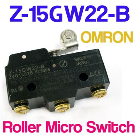 Limit Switch Omron Z 15gw22 B 2 Pc Omron Z 15gw22 B Z15gw22b Limit Hinge Lever Actuator Roller Micro Switch Ebay