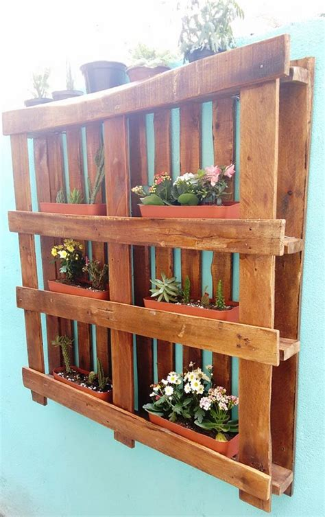 hanging wall gardens hanging garden out of wooden pallet pallet ideas