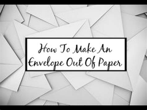 how to make an envelope out of paper hd