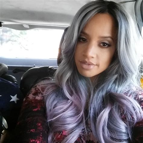 black n purple hair the gallery for gt black with purple dascha polanco is just saying that purple is the new