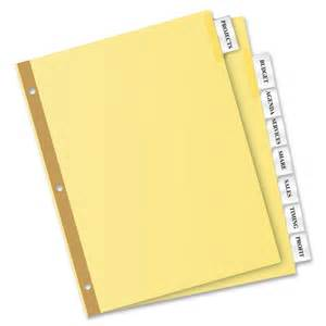 avery tab inserts template avery big tab buff colored insertable dividers gold