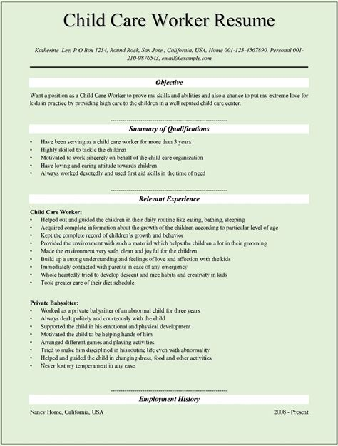 direct care worker resume design resume template