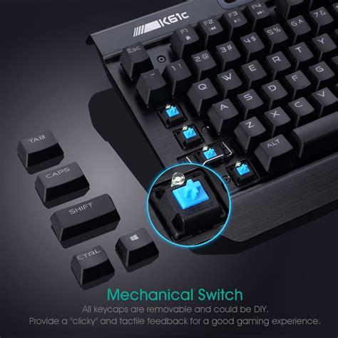 Keyboard Komputer Gaming rii k61c mechanical gaming keyboard pc gaming keyboard blue switch
