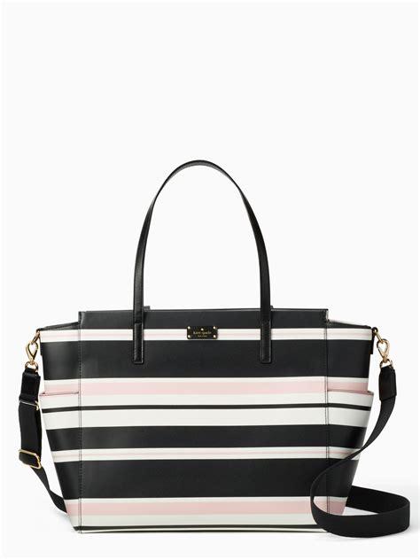 Kate Spade Bag Terbaru lyst kate spade grove classic stripe kaylie baby bag in black