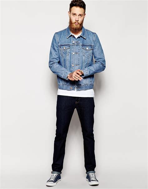 S Casual Regular Outdoor Jackets Denim Jackets With slim fit mens denim jacket jackets review