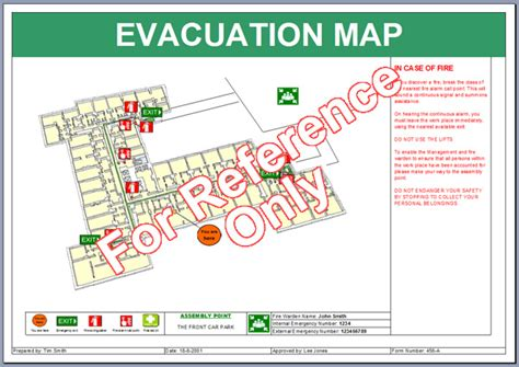 evacuation map template