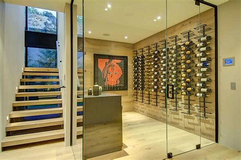 Modern House Wines by House With A Stylish Interior In L A And A