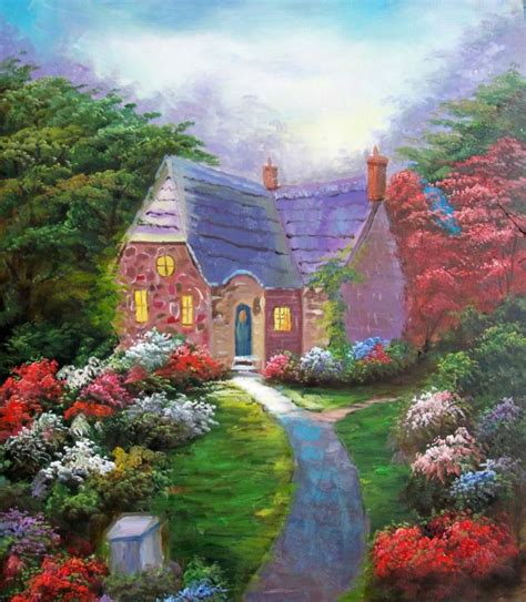 paintings of cottages the gallery for gt fairytale cottage in the woods