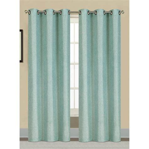 Seafoam Green Curtains Decorating Window Elements Semi Opaque Willow Textured Woven 96 In L Grommet Curtain Panel Pair Seafoam