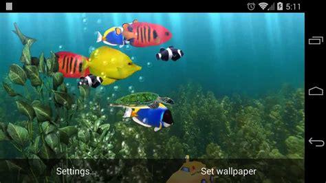 aquarium 3d live wallpaper youtube aquarium live wallpaper youtube