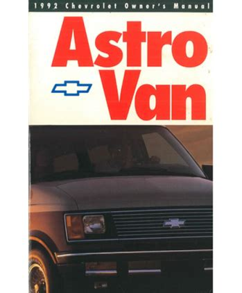 best car repair manuals 1992 chevrolet astro user handbook service manual electric and cars manual 1992 chevrolet astro user handbook 1992 chevrolet