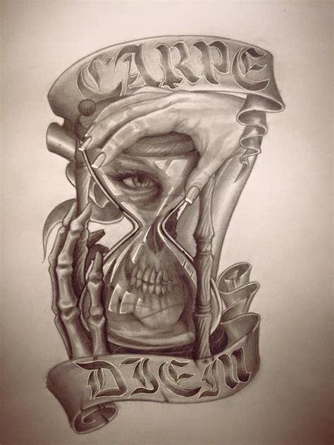 hourglass skull tattoo designs hourglass with skull gangster skulls