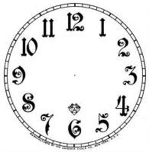 printable paper clock dials clock repair replacement parts dials related paper