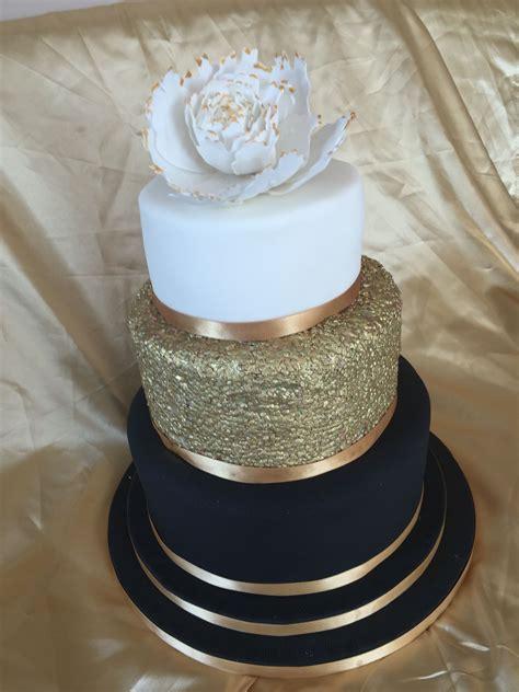 Hochzeitstorte 20er Jahre by Black Gold And White Wedding Cake Marcie And Baby Weeks