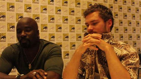 mike colter and finn jones sdcc 2017 mike colter luke cage and finn jones iron