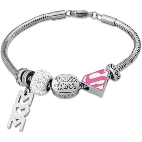 hallmark charm bracelet connections from hallmark clear stainless steel