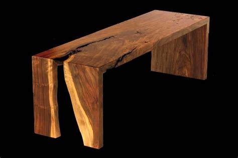 live edge bench custom live edge walnut bench by blunt woodworks