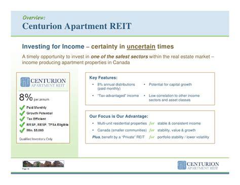 Centurion Property Management Kitchener by Centurion Apartment Reit Investor Presentation