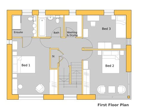 passive house floor plans howe park passive house first floor plan 1940 s bungalow