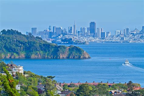 bay area landscape san francisco skyline from tiburon california sf bay area landscape images
