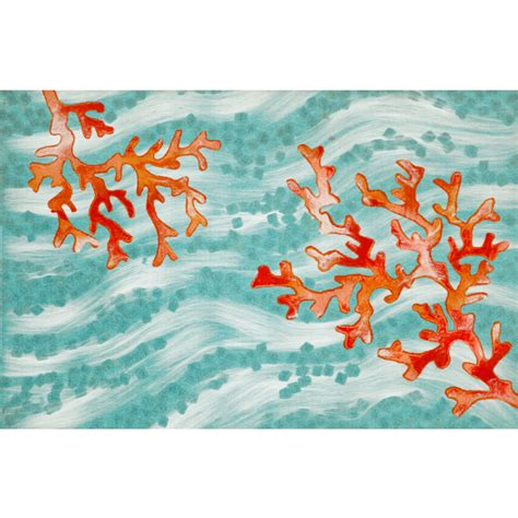 Coral Outdoor Rug Coral Wave Indoor Outdoor Rug