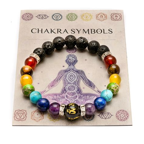 chakra bracelet crystals healing stones beads jewellery