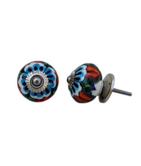 Buy Door Knobs by Buy Indianshelf Ceramic Door Knobs Pack Of 4 At Low